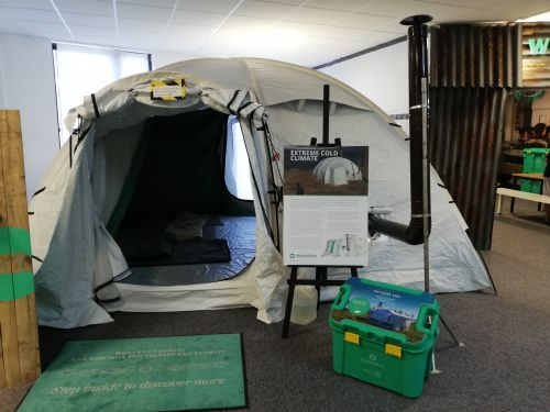 Shelterbox and tent