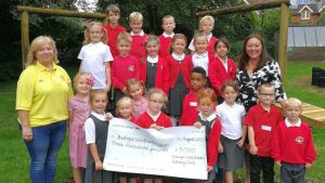 rotary cheque and children